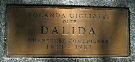 dalida plaque
